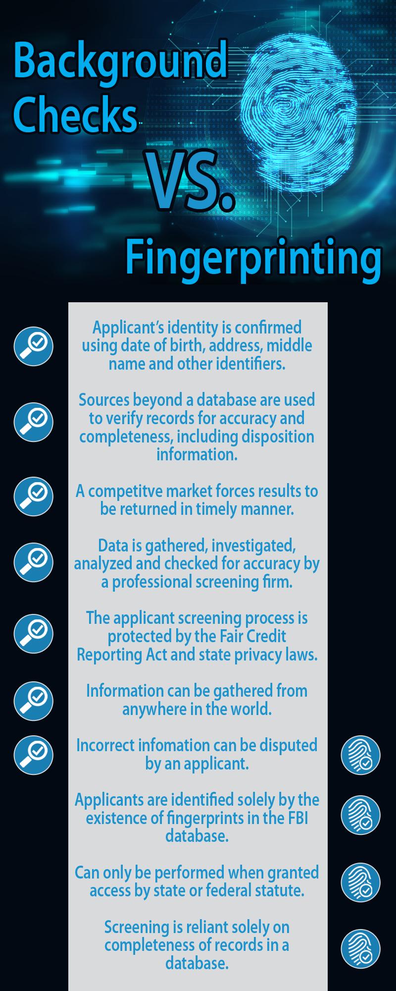 background check vs. fingerprinting